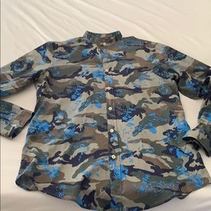 Like new Zara Camo dress shirt!